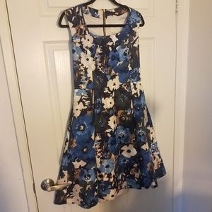 Kate Spade Sleeveless Size 10 Floral Dress Silk